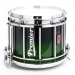 HTS 800 Pipe Band Snare Drum with Diamond Chrome in Emerald Sparkle Fade Lacquer - EXBF-C