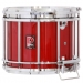 HTS 800 Pipe Band Snare Drum with Diamond Chrome in Flame Red Lacquer (b) - RC-C