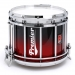 HTS 800 Pipe Band Snare Drum with Diamond Chrome in Ruby Sparkle Fade Lacquer - RXBF-C