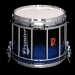 HTS 800 Pipe Band Snare Drum with Diamond Chrome in Sapphire Sparkle Fade Lacquer (a) - SXBF-C